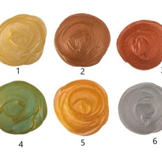 Акриловые краски металлик по номерам