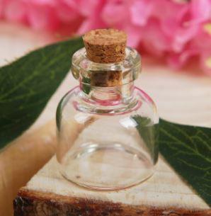 Бутылочка с пробкой стеклянная 3 мл основа для творчества и декорирования
