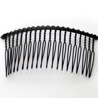 Гребешок для диадемы 20 зубчиков черный
