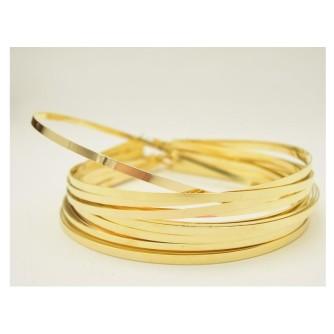 Ободок 5 мм золотистый поштучно