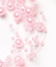 Бусинки на леске светло-розовые