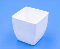 Кашпо горшок белый квадратный
