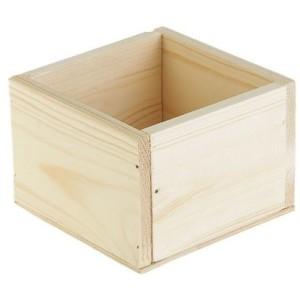 Кашпо деревянное 14 см × 14 см × 9 см