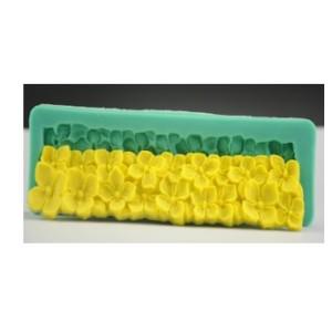 Молд силиконовый «цветочки» 17,5 х 5,1 х 1,2 см