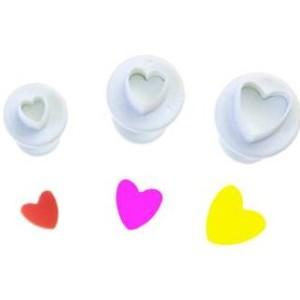 Плунжеры «сердечки» набор из 3 шт.