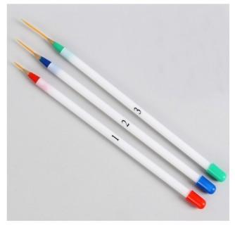Кисть тонкая с пластиковой ручкой в наборе