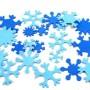 Пример применения фома с уценкой. Снежинки из светло-голубого и темно-голубого иранского фома  1 мм