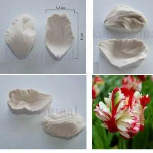 Молд вайнер силиконовый лепесток тюльпан №2049