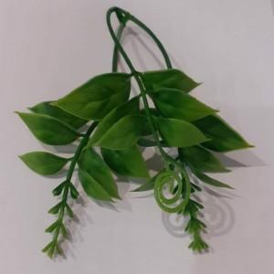 Искусственная зелень веточка для вставки с завитушкой